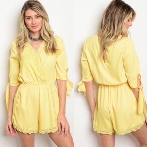 CUTE Yellow Romper Jumpsuit!!